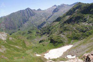 Le Crusous vu du col de Crusous (2203m)