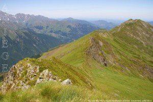 Pic des Maurets vu du pic de l'Arrech (2350m)