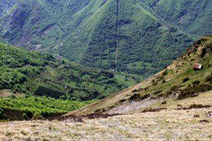 Vallée du Lez - Cabane de la Roque vues du pic de Courbayran