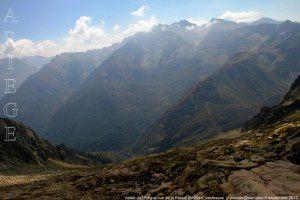 Vallée de l'Artigue vue de la Raspe (2400m)