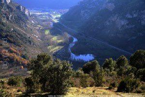 Vallée de l'Ariège vue du Clot de la Carbonnière (919m)