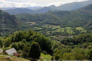 Saurat vu du Souleilhan (920m)