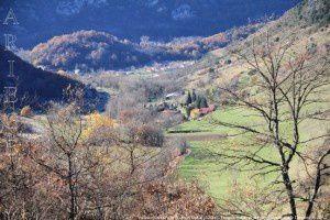 Vallée d'Ussat vue du col d'Ussat (820m)