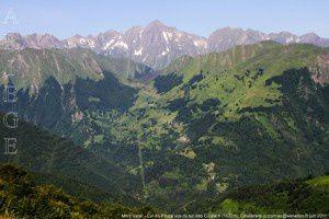 Mont Valier - Col de Pause vus du tuc des Courach (1622m)