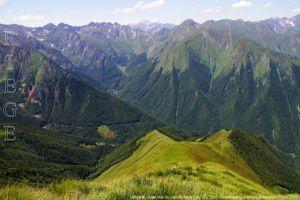 Vallée du Salat vue du cap de Mont Sain (2276m)
