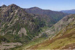 Jasse de Brouquenat d'en-haut vue de la Unarde (2200m)