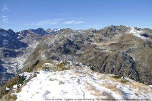 Coume de Varilhes - Cabaillere vu du pic de Pradel (2378m)