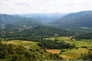 Vallée de l'Ariège vue du Pech (800m)