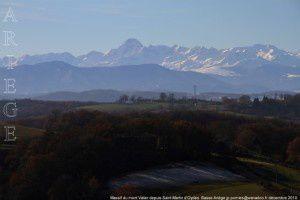 Massif du mont Valier depuis Saint-Martin d'Oydes