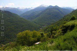 Vallée de Vicdessos vue de Lapège (980m)