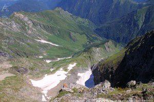 Glacier d'Arcousan vu du Mont Valier (2838m)