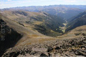 Vallée de Ransol vue du pic de Mil-Menut (2782m)