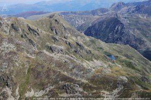Pic de Cabaillere - Etang de Mirabail vus du pic de Mil-Menut (2782m)