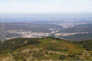 Lavelanet vue du château de Montségur