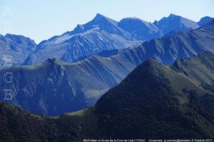 Mont Valier vu du tuc de la Core de Léat (1703m)