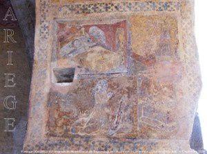 Fresque XVème - début XVIème siècle - Notre-Dame de Tramesaygues - Audressein