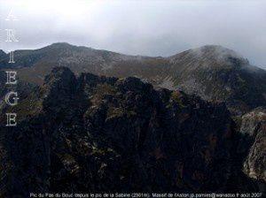 Pic du Pas du Bouc depuis le pic de la Sabine (2561m)