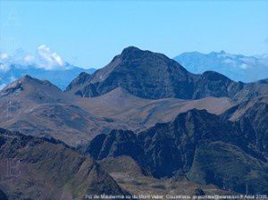 Pic de Maubermé vu du Mont Valier