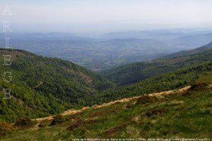 La Barguillere vue du Sarrat de la Pelade (1701m)