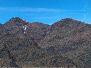 Pic de Montcalm depuis le Caraussans (2440m)