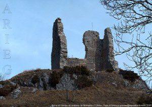 Le donjon du château de Montaillou (1354m)