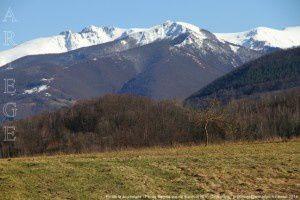 Pic de la Journalade - Pic de Bernes vus de Biech (816m)
