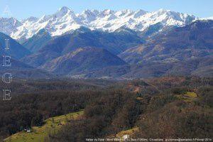 Vallée du Salat - Mont Valier vus de Joubac