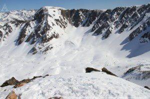 Pic de Font Freda vu du pic de la Mina (2683m)