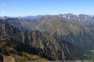 Port de Salau - Mont Valier vus du pic de la Montagnoule (2623m)