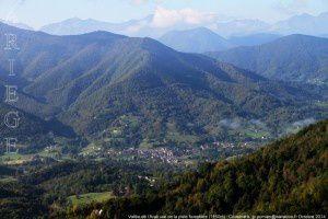 Vallée de l'Arac vue de la piste forestière (1150m)