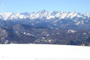 Massif du mont Valier vu du cap de Carmil (1617m)