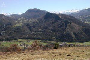 Montagne de Sourroque vue du Char de la Lique (796m)