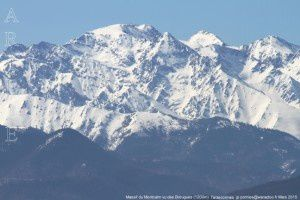 Massif du Montcalm vu des Brougues (1200m)