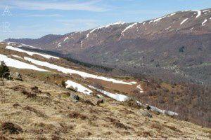 Vallée de Saurat vue du Roc de Peyrenègre (1390m)