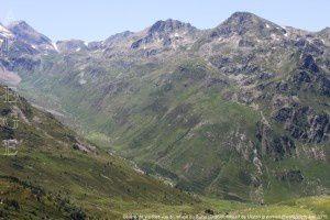 Coume de Varilhes vue du refuge du Rulhe (2185m)