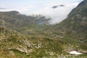 Etangs de Bassies vus du col du Morech (2024m)