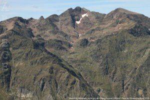 Massif du Montcalm vu du pic de l'Etang Fourcat (2859m)