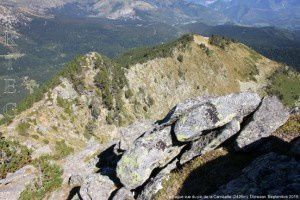 La Bague vue du pic de la Camisette (2426m)