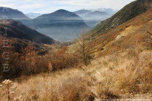 Ussat vu du col d'Ussat (820m)