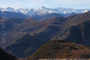 Vue sur la pique d'Endron - Chemin du col de Faboscur (1166m)