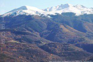 Mont Fourcat vu du roc du Traucadou (1374m)