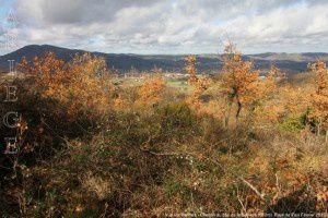 Vue sur Varilhes - Chemin du cap de la Baillière (580m)