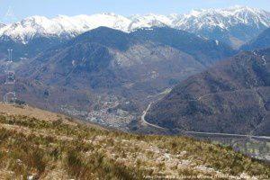 Ax-les-Thermes vue du Sarrat de la Conque (1444m)