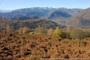 Vallée de l'Ariège vue de la montée aux Brougues (1197m)