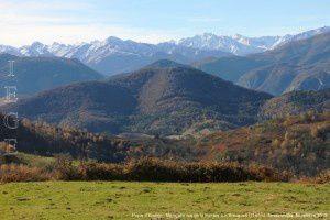 Pique d'Endron - Montcalm vus de la montée aux Brougues (1197m)