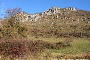 Vue sur le pic de l'Aspre - Soula (650m)