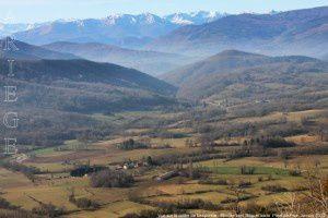 Vue sur la vallée de Lesponne - Montée vers Roquefixade