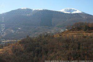 Vue sur le cap de Bouirex - Montée au col de Lartigue (886m)