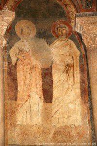 Fresque romane (XIème siècle) - Cathédrale Saint-Lizier