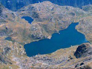 Etang de Soucarrane du pic de la Rouge (2902m)